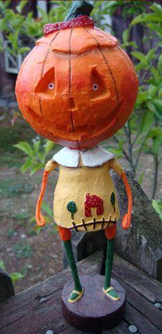 """""""Jill Dandy"""" - another Lori C. Mitchell folk art figurine"""