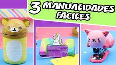 3 MANUALIDADES FÁCILES - Útiles Escolares Kawaii | Manualidades aPasos