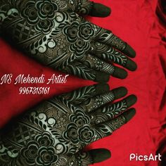NS Mehndi Artist, Bridal Mehndi Artist in Mumbai Khafif Mehndi Design, Floral Henna Designs, Mehndi Designs For Girls, Modern Mehndi Designs, Dulhan Mehndi Designs, Mehndi Designs For Fingers, Wedding Mehndi Designs, Mehndi Design Pictures, Beautiful Mehndi Design