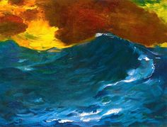 EMIL NOLDE High Waves (1940) considered to be one of the great oil painting and watercolour painters of the 20th century