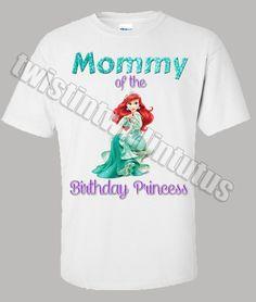 Ariel Mom Birthday Shirt