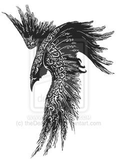 """Raven Rune tattoo by theDeathspell.deviantart.com on @deviantART """"this is not an open source design"""""""