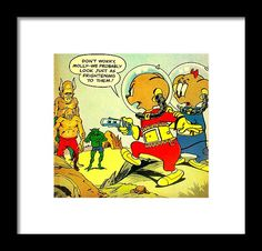 Popart Framed Print featuring the mixed media Space Mouse by The Griffin Passant Streetworks