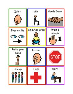Secondary special education classroom autism visual supports promote independence behavior social communication assessment ideas for the special education Visual Schedule Autism, Visual Schedules, Social Stories Autism, Autism Resources, Autism Activities, Autism Classroom, Classroom Rules, Classroom Organization, Cue Cards