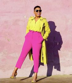 Colour Combinations Fashion, Color Combinations For Clothes, Fashion Colours, Colorful Fashion, Feminine Fashion, Color Blocking Outfits, Colour Blocking Fashion, Stylish Outfits, Fashion Outfits