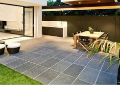 Image result for travertine pavers alfresco Patio Ideas, Landscaping Ideas, Travertine Pavers, Tile Floor, Flooring, Landscape, Image, Diy Landscaping Ideas, Scenery