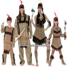 DisfracesMimo, disfraz de familia y grupo de indios marrones.Estos fantasticos Disfraces de Indios para familias y grupos que te hará sentir unos auténtico , unos defensores de tu tribu y con el que causarás sensación en Carnaval, Despedidas, Espectáculos.Este disfraz es ideal para tus fiestas temáticas de disfraces de indios y vaqueros para el oeste grupos y familias.