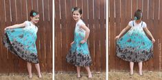 Turn a Thrift Store Skirt into a Little Girl's Dress in 15 minutes or less.  Super cute!! http://www.makeit-loveit.com