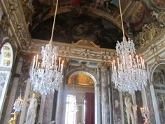 Versailles, France - Versailles Palace 1661, The Hall of Mirrors (Galerie Des Glaces), took 10 years to build