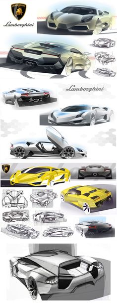 Various #Drawings of #ConceptCar @lamborghini
