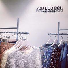 新宿ミロード店に行ってきました 新作のフェザーヤーンのニットやワイドパンツたくさん入荷しています #poudoudou#pdd16aw#shinjuku