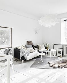 Ideas for a small Scandinavian style apartment
