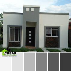 Casas Color Gris Oscuro Exterior