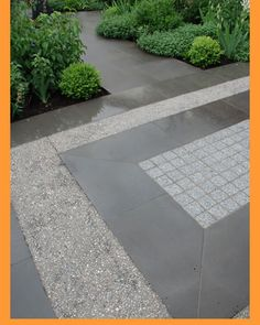 paving and garden