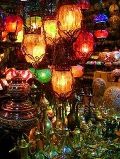 A cacophony of lanterns, brightening the dark world with their beautiful colors.