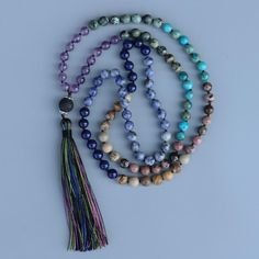 Now available in our store, don't miss out: Handmade Classic ...   Check it out here and tell us what you think:  http://www.divinelotustemple.com/products/handmade-classic-7-chakra-multicolor-natural-stone-108-mala-beads-necklace-with-tassel?utm_campaign=social_autopilot&utm_source=pin&utm_medium=pin