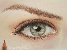 Close up of my favorite eye drawing!  Watch the tutorial on my youtube channel (link in bio)