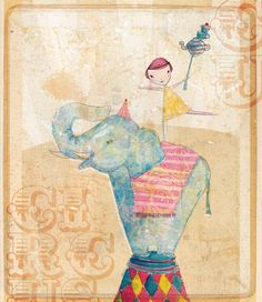join the circus art print - fine art print - a Sweet William illustration on archival paper.. $24.00, via Etsy.