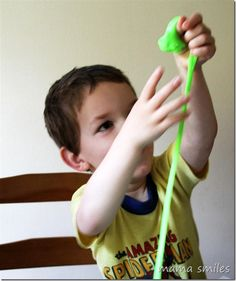 Sensory play with Gak and Floam is a great way to cheer up a rainy day!