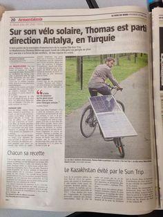Thomas Pollet - La voix du Nord - #solar #bike #greentech #mobility #ecology #suntrip2015