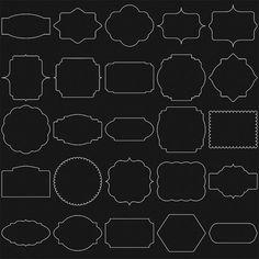 50 White Digital Frames, Classic Frames, Digital Clipart, Digital Frame, Clipart…