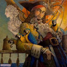 Arrgggh, a pirate I be. Artwork David Galchutt. Pirates!