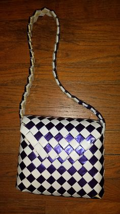 Blue and white candy wrapper purse by TheGeekyFreaky on Etsy ♡♡