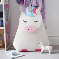 Buy Little Stackers Lola Unicorn Laundry Storage Bucket, White/Multi from our Boxes & Baskets range at John Lewis & Partners. Laundry Bin, Laundry Storage, Laundry Hamper, Magical Room, Storage Buckets, Container Store, Room Themes, Wool Felt, Nursery Organization