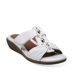Jandi Gem in White Leather - Womens Sandals from Clarks (Want!)