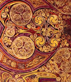 from the Irish / Celtic Book of Kells: Stunning Examples of (pre-Fractal) Fractal Art  The mind has always had a fixation with recursive and fractal patterns, largely because our environment is filled with them.   Only in the last 40 years have we been able to finally describe this exquisitely subtle math of interacting patterns mapped as dimensionality.  Interestingly the representations of fractals and therefore INFINITY most frequently appear in human art of the Religious and Spiritual var...