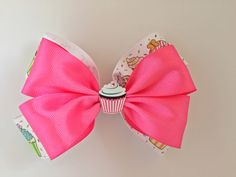 A personal favorite from my Etsy shop https://www.etsy.com/listing/484130445/pink-cupcake-hair-bow-cupcakes-hairbaby