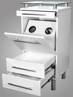 Amy Salon Styling Station White with Tilt-Out Tool Drawer alternative product image 2
