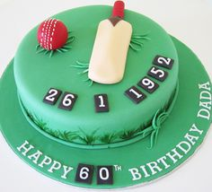 Some Cool Cricket Cake Ideas / Cricket Theme cakes - Crust N Cakes Boys Bday Cakes, 30th Birthday Cakes For Men, 50th Birthday, Birthday Ideas, Cricket Birthday Cake, Cricket Theme Cake, The Farm, Skittles Cake, Dad Cake