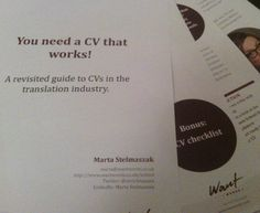"Lesson 57: ""You need a CV that works!"" - ebook on CV-writing in translation 