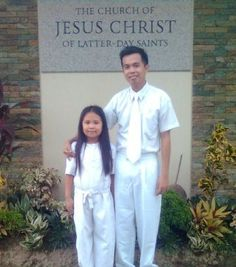 Bulaklak and her uncle Gilbor Junior during the former's baptism