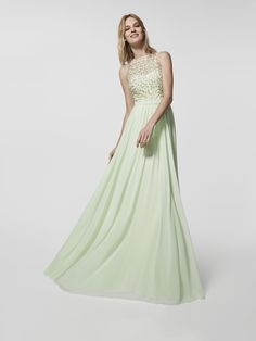 Green cocktail dress - Long dress GRIDA- sleeveless   Pronovias