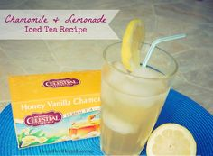 Chamomile & Lemonade Iced Tea Recipe - The BEST Iced Tea I have Ever Had!          happydealhappyday.com