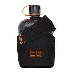 Gerber Feldflasche Bear Grylls 1L – Cúter, color negro / naranja, talla 1 L