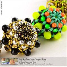 gumdrop bead brooch or ring by Helena Tang Lim