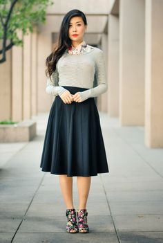 Fashion Alert: Trends For Spring 2014 - I love the skirt and shoes combo. They compliment each other.