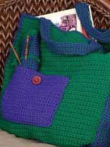 Plentiful Pockets Tote Crochet Pattern, free