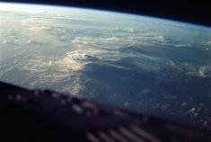 10. Clouds over Malagasy Republic, seen from the orbiting Gemini III capsule on March 23, 1965.  NASA/JSC/ASU