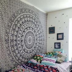 White and Black Tapestry