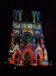 Reims Cathedral, 800th anniversary light show
