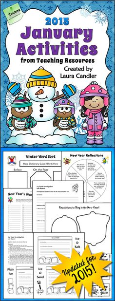 January Activities from Teaching Resources - Updated for 2015 - Includes literacy, math, science, and social studies lessons for upper elementary $ #LauraCandler