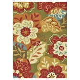Found it at Wayfair - Francesca Green & Red Floral Area Rug