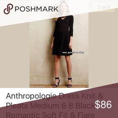 Anthropologie Fit & Flare Dress Size Medium, Black. Version with grey is not available and the photo is only posted to demonstrate the style. Anthropologie Dresses Mini
