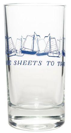 THREE SHEETS DRINKING GLASS $9.00 #housewares #glass #nautical #threesheetstothewind