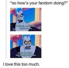 This is describing every fandom ever very accurate!! Sad enough...