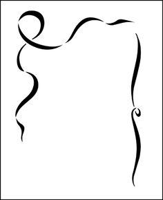 Ribbon stencil from The Stencil Library SPECIAL INTEREST range. Buy stencils online. Stencil code F23.